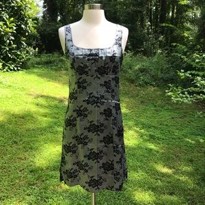 Guess Jeans Gray Floral Silk Mini Dress M